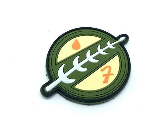 Patch Nation Star Wars Mandalorian Emblem PVC Klett Emblem Abzeichen (Star Wars Pvc-patch)