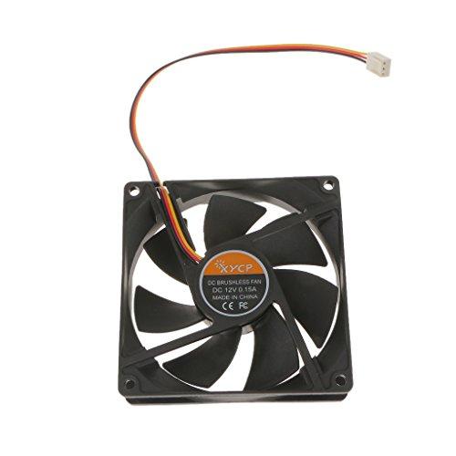SM SunniMix 12V 3 Pin 2300RPM Black System PC PC Refrigerante CPU Ventilador Ventilador
