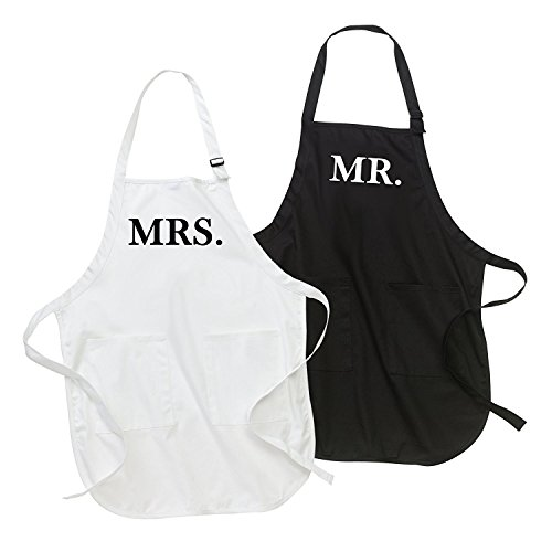 Mr. und Mrs. Schürze Set -