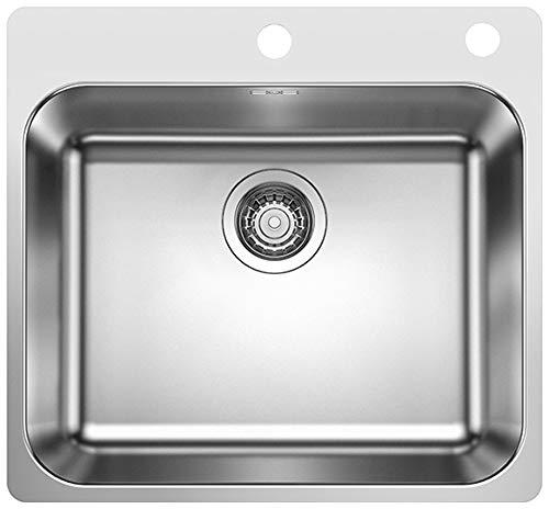 Blanco 523362 Supra 500-IF/A Küchenspüle Edelstahl Bürstfinish, 500 mm Beckenbreite