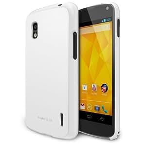 Ringke Slim für Nexus 4 Hülle Tasche (Besser Griff Technik & Schlank Schutz Hülle Machart), Lf White-weiß