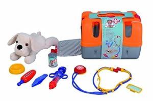 veterinaria mascotas: Games & More - Maletín veterinario, color rojo/blanco (Simba 5543060)