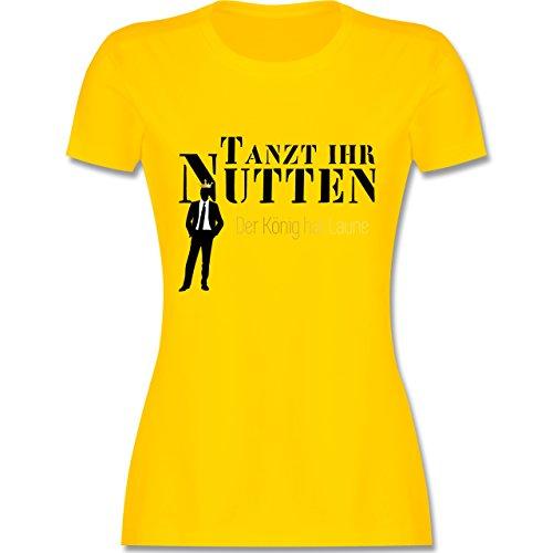 Urlaub Tanzt ihr Nutten, der König hat Laune tailliertes Premium TShirt mit  Rundhalsausschnitt für Damen Gelb