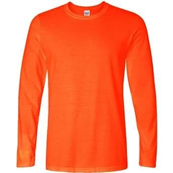 Gildan - Maglia Manica Lunga 100% Cotone - Uomo (S) (Arancio)
