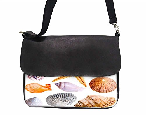 Snoogg 14 Muscheln und Star Fisch Studio isoliert auf weiß 38,1 cm Zoll auf 39,4 cm Zoll auf 39,6 cm Zoll Kunstleder Laptop Notebook Schuber Sleeve, der Fall mit und Schultergurt für MacBook Pro Acer Asus Dell HP Sony Toshiba (Dell Studio Laptop Cover)