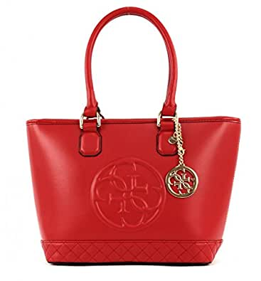 GUESS Amy Small Tote Red