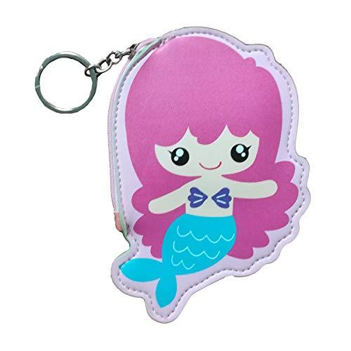 Schwan 2013, S.L. Münzfach mit Reißverschluss Sirene für Mädchen Mini Geldbörse Meerjungfrau Design rosa Maße: 13,5 x 10 cm. Handtasche Meerjungfrau Rosa. -