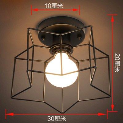 Ceiling lamp, aisle lamp, lobby entrance lamp, led American corridor lamp, positive desk lamp, stair, crystal restaurant light,Five angle black[Energy efficiency class A ++]