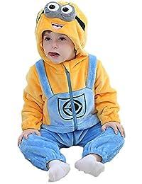 Amooy DiZi Unisexe Bébé Grenouillères Combinaison Dors Bien Pyjama Hiver  Manteau Capuche Vêtement Animal Barboteuses Déguisement c7305459d37