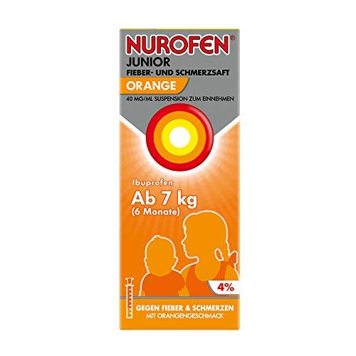 Nurofen Junior Fieber- und Schmerzsaft - Ibuprofen-Saft mit Orangen Geschmack bei Fieber und Schmerzen - Für Kinder - 40 mg/ 100 ml