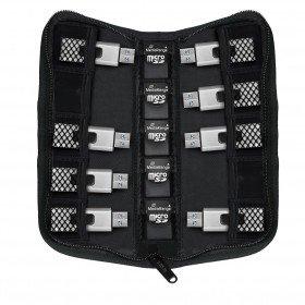 Tasche für USB-Sticks und Speicherkarten - für 10 USB Sticks und 5 SD-Karten