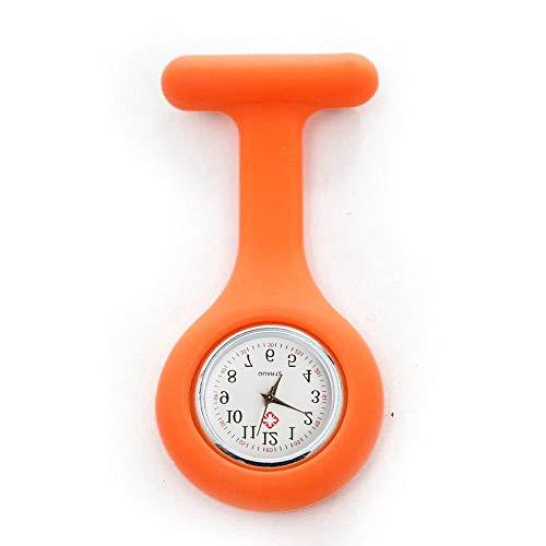 TianWlio Armbanduhren Damen Mode Silikon Krankenschwester Uhr Brosche Tunika Taschenuhr mit Freiem Batterie Doktor Medizinischem