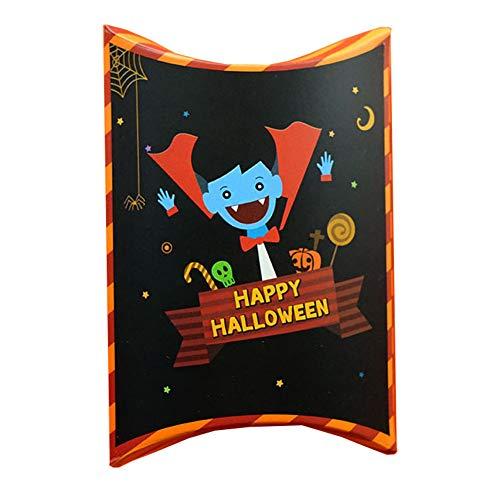 Hengwei Süßigkeitentasche, Halloween-Motiv, Süßigkeitentasche, Halloween-Motiv, bedruckt, Box Geschenkpapier H03