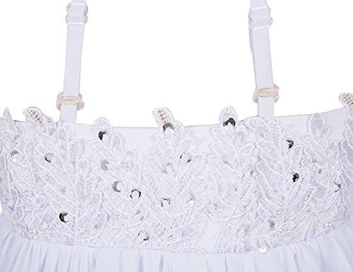 Dresstells Robe de demoiselle d'honneur Robe de cérémonie forme empire bretelles spaghetti longueur ras du sol Pourpre