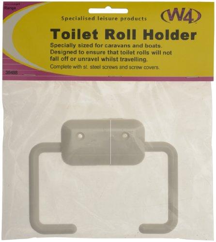 W4 Toilettenpapierhalter, Weiß