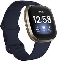 Fitbit Versa 3, la montre connectée santé et sport avec GPS intégré, suivi continu de la fréquence cardiaque,