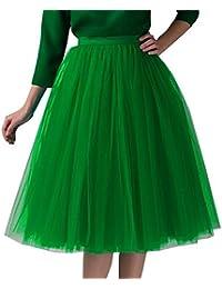 MRULIC Petticoat Reifrock Unterrock Underskirt für Rockabilly Kleid Damen  Tüllrock 50er Tutu Kurz… ca679311ac