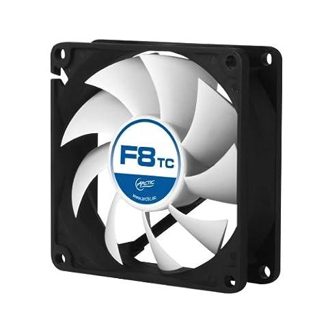 ARCTIC F8 TC - Temperaturgesteuerter 80 mm Hochleistungs-Gehäuselüfter mit Standard-Gehäuse