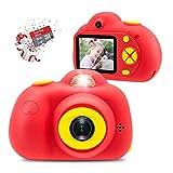 Veroyi 16GB Kids Camera 8.0MP wiederaufladbare Digitale Kamera vorne und hinten Selfie-Kamera Kind Camcorder, Spielzeug Geschenk für 4-10 Jahre alte Jungen und Mädchen (Rot)