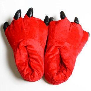 LEPAKSHI Red, 6.5 : 2017 Winter Warm Soft indoor floor Slippers Women Men Child Shoes Paw Funny Animal Christmas Monster Dinosaur Claw Plush Home