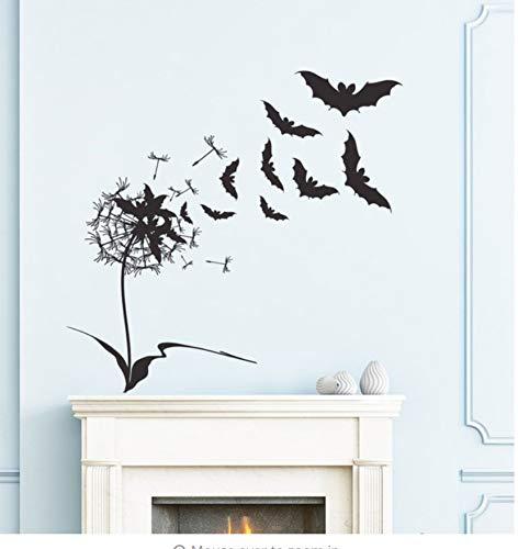 Finloveg Entwickelt Flying Fledermäuse Mit Blumen Wandtattoos Für Halloween Home Special Decor Happy Halloween Wandaufkleber 71X71Cm