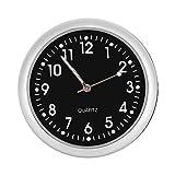 Coche Salpicadero reloj clásico pequeño mesa redonda reloj de cuarzo en placa con luminated luz Mini Noctilucent reloj relojes para la decoración de Auto