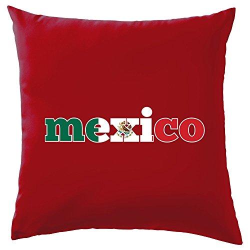 Dressdown WM 2018 - Mexiko - Dekokissen 41 x 41 cm - Rot - El Tri De Mexico