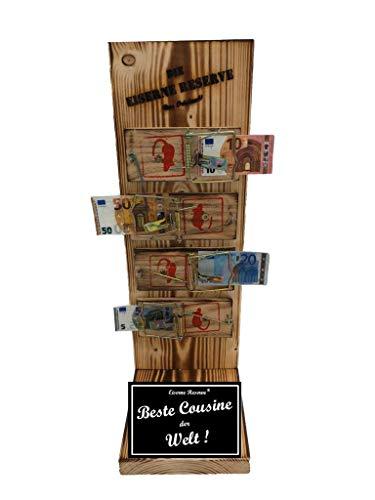 * Beste Cousine der Welt - Die Eiserne Reserve ® Mausefalle Geldgeschenk - Die ausgefallene lustige witzige Geschenkidee - Geld verschenken