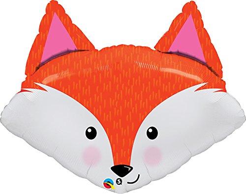 Fabulous Fox (Unbekannt Qualatex 23436Form Geburtstag Fabulous Fox Folienballon, ca. 74-84cm)
