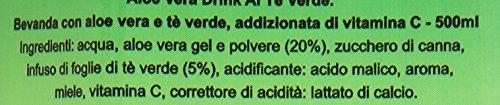 Tropical - Bevanda con Aloe Vera e Te' Verde, Addizionata di Vitamina C - 5 pezzi da 500 ml [2500 ml]