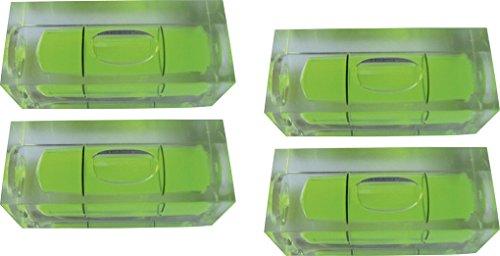 4 Mini-Wasserwaagen - Blocklibellen