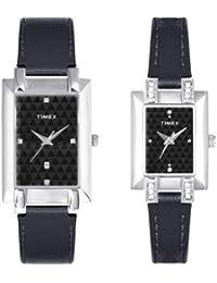 Timex Classics Analog Black Dial Couple's Watch - TI00PR18900