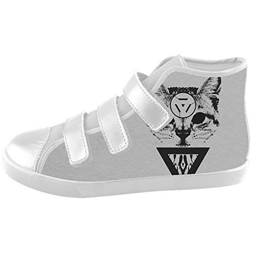 Dalliy art mignon petit chat Kids canvas Footwear Sneakers Shoes Chaussures de toile Baskets A