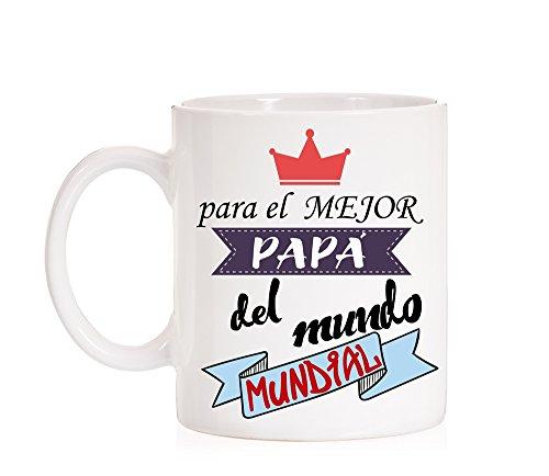 Taza Para el mejor Papá del mundo mundial. Taza regalo para padres