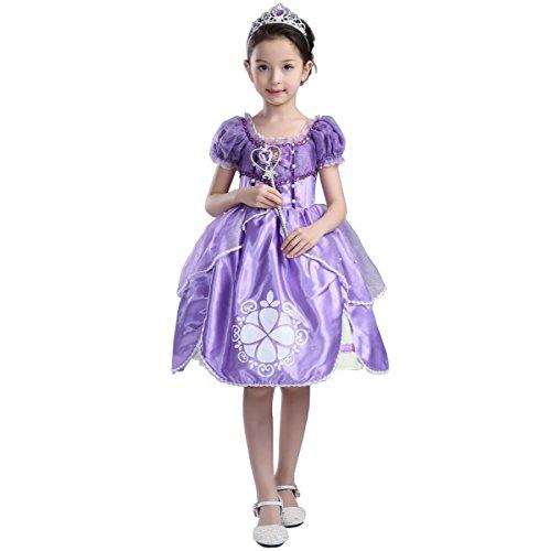 Das beste Sofia Prinzessin Mädchen Abendkleid Kleid Abendmode Kleider Rollenspiele Weihnachten Verkleidung Karneval Party Halloween Fest Puppe, Fahrrad Träger