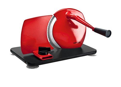 Trancheuse manuelle universelle look rétro jupiter rouge