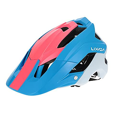 Lixada Mountain Bike Helmet Cycling Bicycle Helmet Sports Safety Protective Helmet 13 Vents Comfortable Lightweight Breathable Helmet for Adult