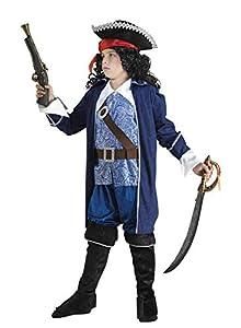Clown Republic - Disfraz de pirata para barba negra para niño, 60208/08, multicolor