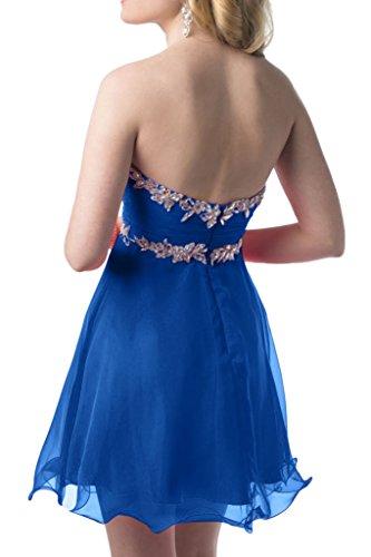 Prom Style Damen Attraktiv Chiffon Strass Traegerlos Abendkleider ...