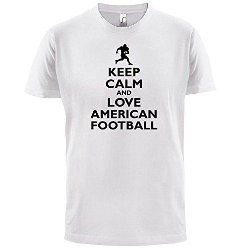 Keep Calm and Love American Football - Herren T-Shirt - 13 Farben Weiß