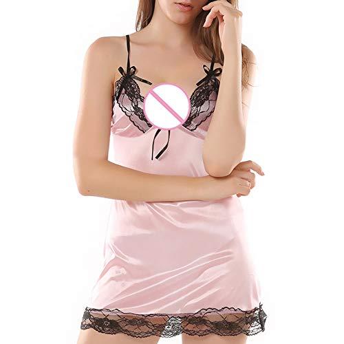 (Reizwäsche Damen, Felicove Mode Sexy Spitzen Unterwäsche Plus Size Uniformen Versuchung Unterwäsche Nachthemd Reizwäsche Strapse Wäsche Strümpfe Nachtwäsche Corsagen Mieder Dessous Set)