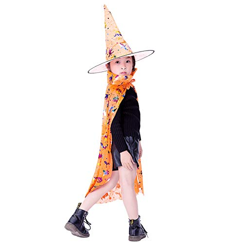 Witch Boy Kostüm - Shiningbaby Kinder Halloween Mantel und Hut