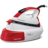 Morphy Richards 333006 Power Steam with IntelliTemp Compact Steam Generator - 5 Bar, White/Red