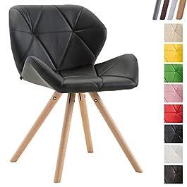 Chaise de Salle à Manger Tyler Revêtement Similicuir I Chaise de Salle à Manger Design Scandinave Rembourré I Chaise…