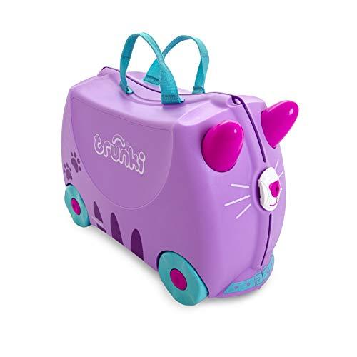 Trunki Valigia Cavalcabile Per Bambini: La Gatta Cassie (Viola)