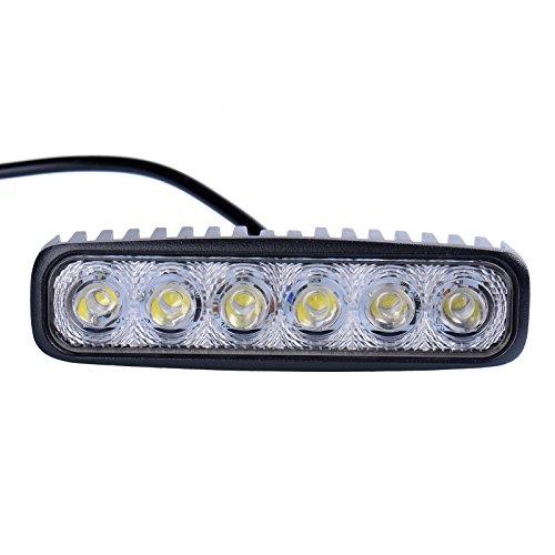 Preisvergleich Produktbild 2x18W LED Lampe square Scheinwerfer kaltweiß Spot IP67 Arbeitsscheinwerfer (2)