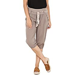 Pantalón pirata de color gris para mujer.