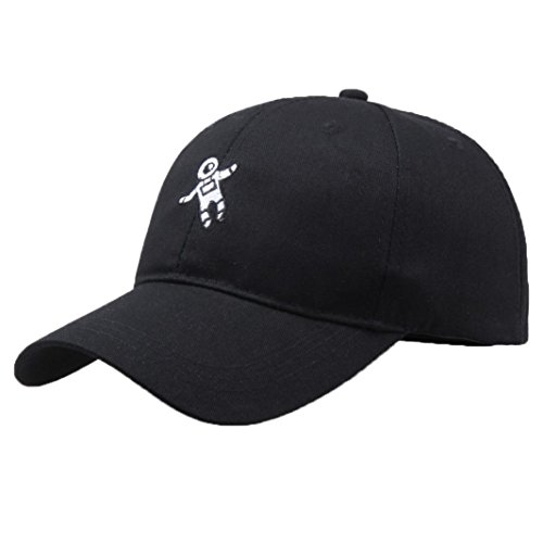 Baseball Cap, BBring Unisex Mode Astronaut Emberidery Baseball Kappen Dad Hat (Schwarz)