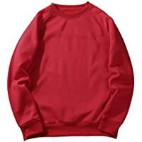 Msliy Sudadera Unisex, Camisetas para Hombres Manga Larga con Cuello Redondo Sudadera Camisas Blusa Top Chándales Deportes Pullover de Otoño Invierno