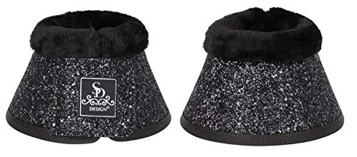 SD Design Glitter Bell Boots schwarz Full/Warmblut Hufglocken